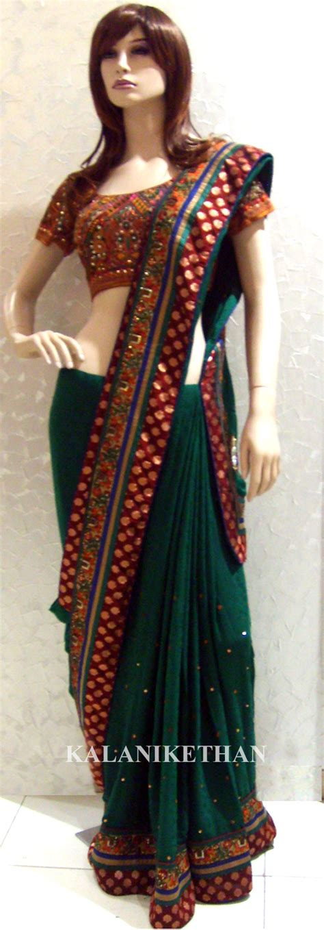 new saree draping styles green zcored crepe