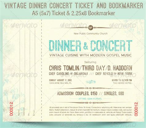 Dinner Tickets Template ticket templates 99 free word excel pdf psd eps formats free premium templates