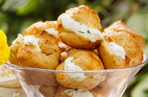 canapes filling recipe 50 and easy canapes cheese and chive puffs