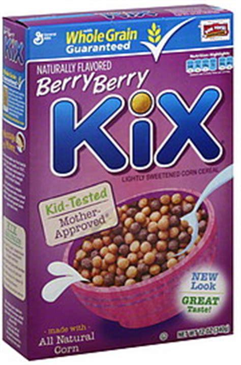 whole grain kix kix cereal berry berry 12 0 oz nutrition information
