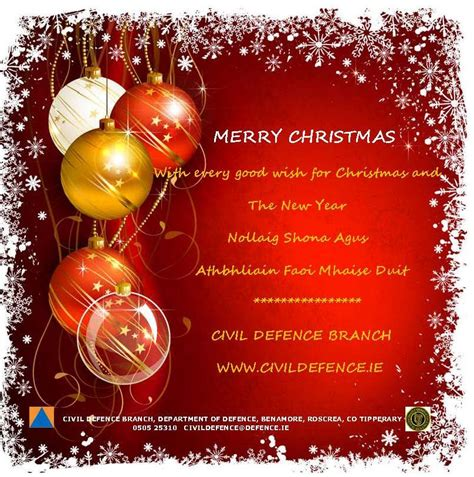 christmas greetings civil defence