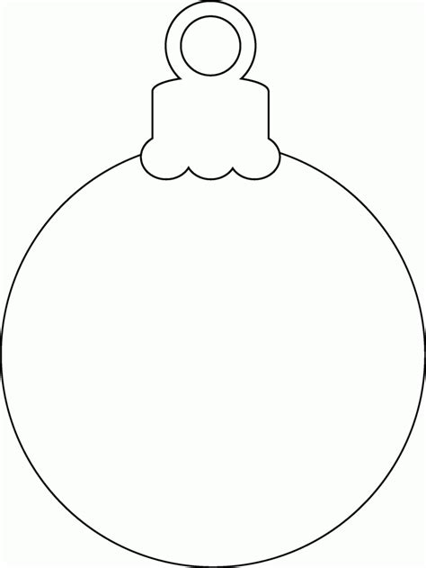 christmas ornaments coloring pages printable coloring home