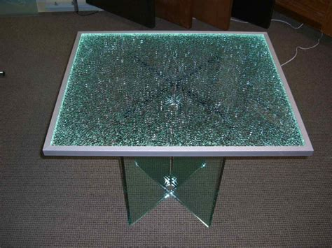 Shattered Glass Dining Table Shattered Glass Edge Lit Glass Dining Tables Sans Soucie