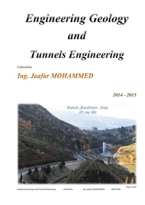 textbook engineering geology tunnels engineering pdf