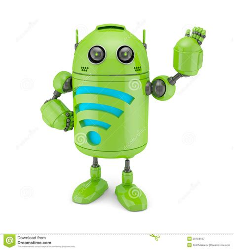 Superuser Android White android with wifi symbol royalty free stock photography