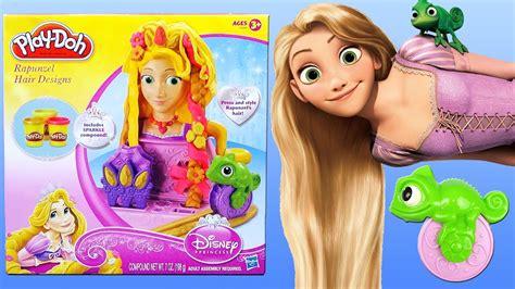 Dijamin Dough Princess Toys play doh rapunzel hair designs disney princess set playdough kapsalon playset tangled fuzzy
