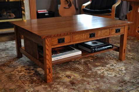 mission coffee tables