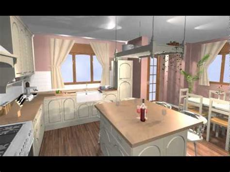 una gran cocina en madera lacada de estilo ingles  isla