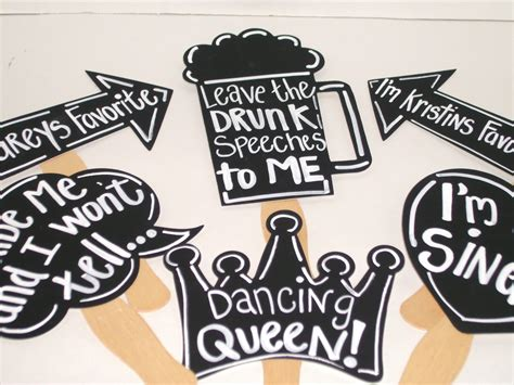 Props Photobooth Birthday Wedding Or Other Seri Say Box 3 6 chalkboard photobooth props chalkboard wedding photo