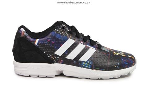 limited edition womens adidas originals zx flux tokyo pack city lights running shoes b25834
