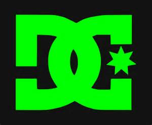 To Dc Dc Logo With Black Backround Sticker Skate Bmx Shoes Usa