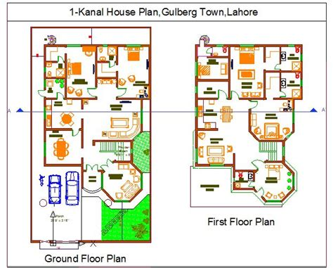 1 kanal house plan layout plan of 1 kanal house muhammad qasim ashraf