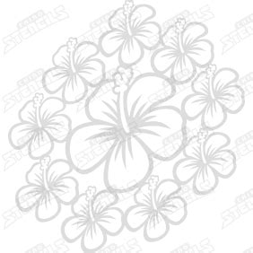 hibiscus pattern png background hibiscus pattern chino stencils