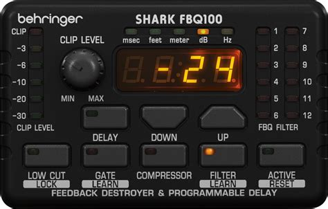 behringer shark fbq100 behringer fbq100 shark цифровой подавитель обратной связи