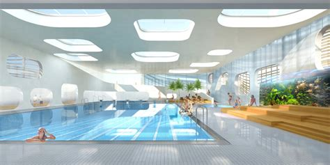 community pool design mikou design studio public swimming pool piscine du fort
