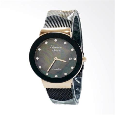 jual alexandre christie 2607 jam tangan wanita black