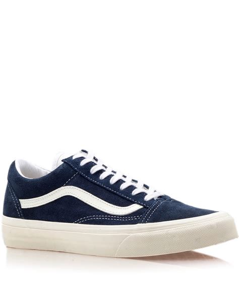 vans navy skool trainers in blue for lyst