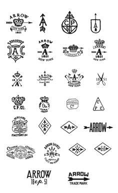 arrow cluett labels and packaging by glenn wolk via hipster logo on pinterest hipster logo badges and logo
