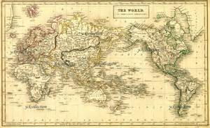 antique world map 8 x 10 to 28 x 42 vintage 1840 map in