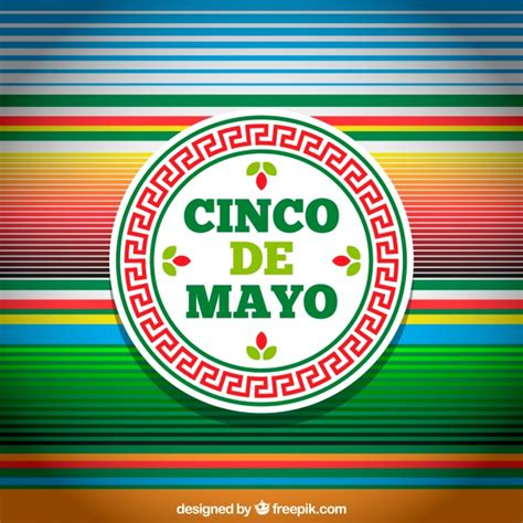 cinco de mayo background cinco de mayo background with multicolor stripes vector