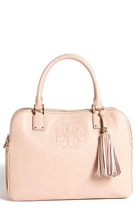 pastel blush pink burch leather satchel accessories pastel classic and bags