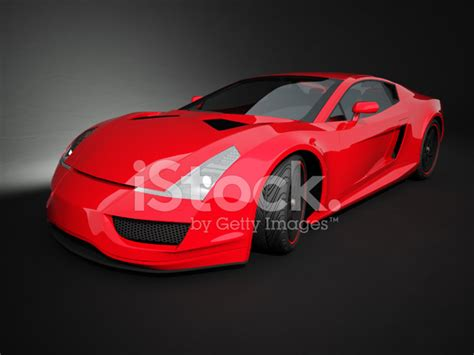 si鑒e auto sport black rode sport auto op zwarte studio achtergrond stockfoto s