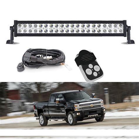 Silverado Led Light Bar 20 Quot Inch Led Light Bar Bumper Grill For 11 14 Chevrolet Silverado 2500hd 3500hd Ebay