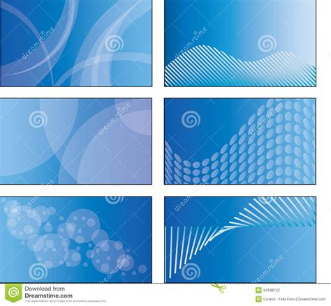 blue card template 6 blue business card template designs stock photography