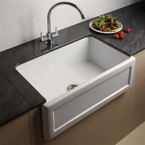 White Kitchen Sink Astini Belfast 760 1 0 Bowl Recessed White Ceramic Kitchen Sink Waste Astini From Taps Uk