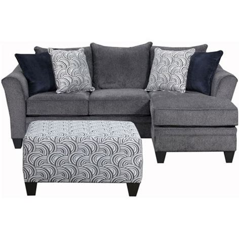 simmons upholstery albany sofa chaise jet