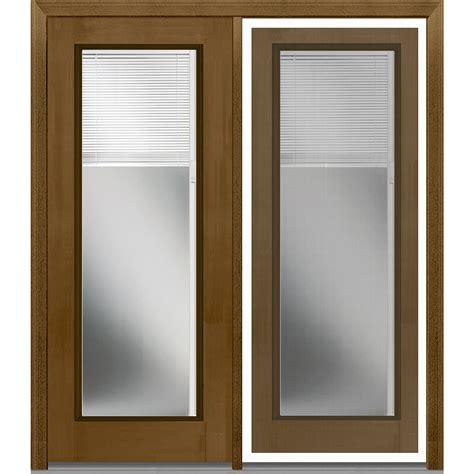 Fiberglass Patio Doors Doorbuild Mini Blinds Collection Fiberglass Mahogany Patio Door Burnished Walnut 64