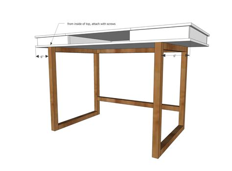 Ana White Build A Modern 2x2 Desk Base For Build Your White Desk Plans