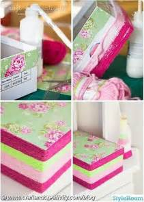 how to decorate a shoe box with yarn papercraft juxtapost