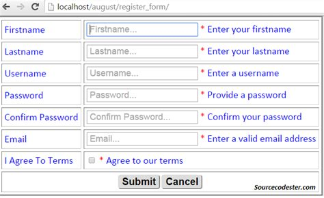 html pattern minlength how to make register form with jquery validation free