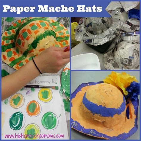 What Do U Need To Make Paper Mache - paper mache hats hip homeschool