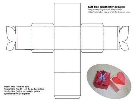 lego gift box template large free printables pinterest printable butterfly and heart shaped tiny gift box