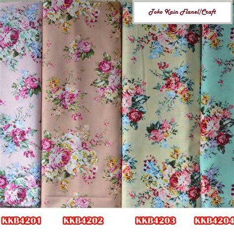 jual kain pattern jual kkb42 katun jepang dove rumpun mawar merah uk