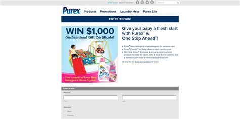 Fresh Step Sweepstakes - give your baby a fresh start with purex one step ahead sweepstakes 1 000 purex