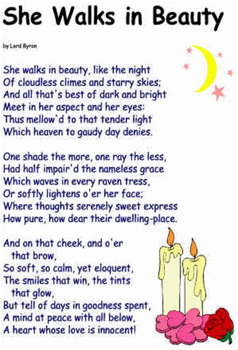 Calm Color by She Walks In Beauty Poem By Lord Byron