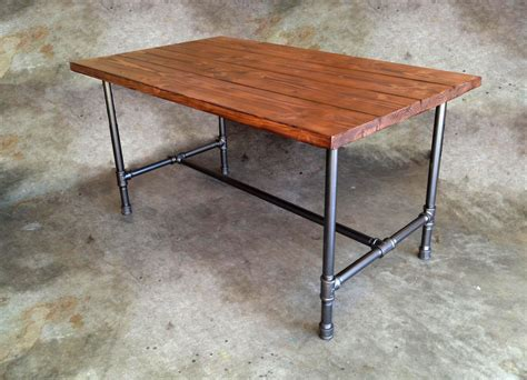 steel pipe desk legs i would love this except in silver colored galvanized