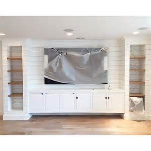 Narrow Kitchen Island Ideas a diy shiplapped built in entertainment center chris