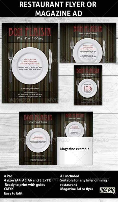 template flyer graphicriver flyer templates graphicriver restaurant magazine ads or