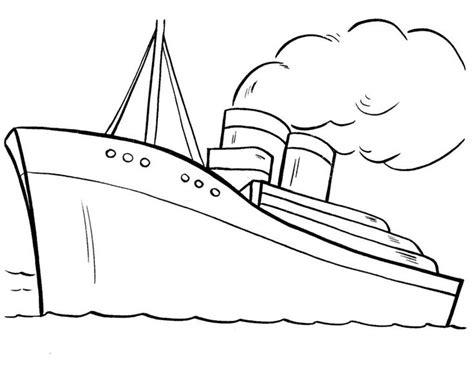 dessin bateau colorier paquebot bateau de croisi 232 re 23 transport