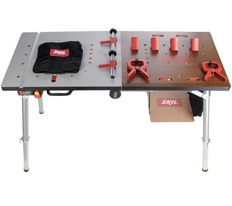 skil work bench skil xbench folding portable workbench with cls shelf page 1 qvc com