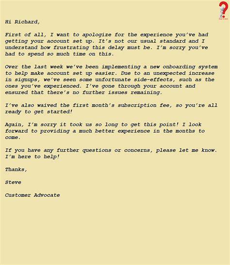 write apology letter customer lettering