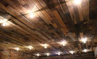 diy recycled pallet ceiling atwater