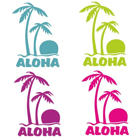 Auto Sticker Hawaii by Aloha Palmen Auto Aufkleber Hawaii Autoaufkleber Sticker