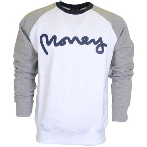 Cruyff Raglan money clothing marl raglan crew neck classic white