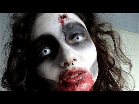 imágenes de zombies para halloween easy zombie make up maquillage de zombie facile youtube