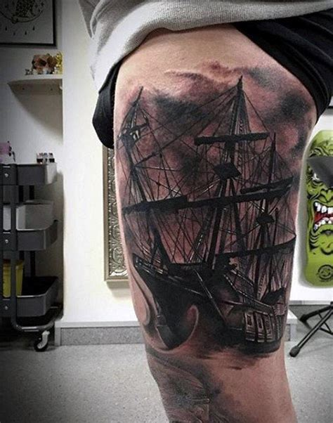 boat tattoos for men 70 ship ideas for a sea of sailor designs
